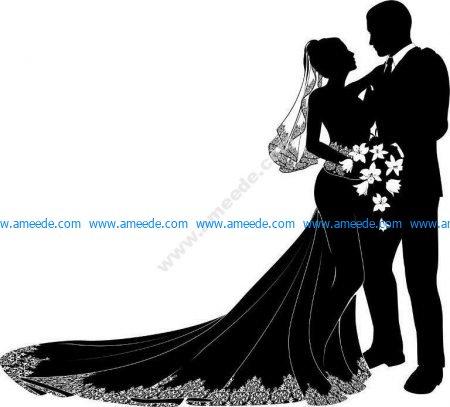 Couple's wedding.