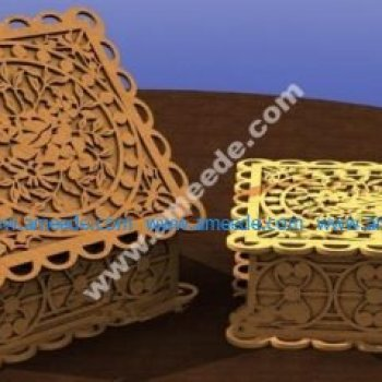 Laser cutting box with rose motifs