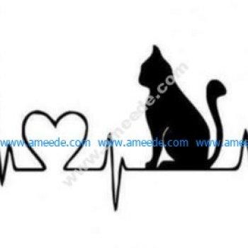 Cat heart line