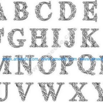 Decorative alphabet motifs