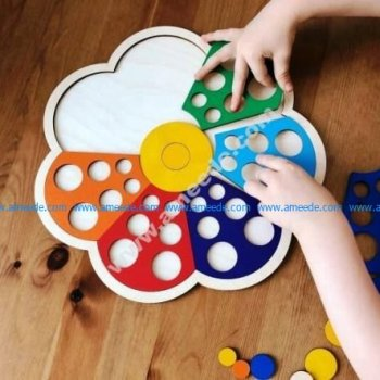 Flower puzzle pieces. Baby toys