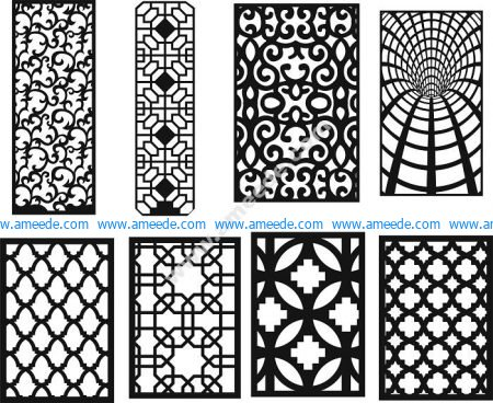 Geometric screen pattern