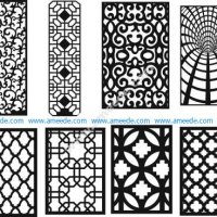 Geometric screen pattern