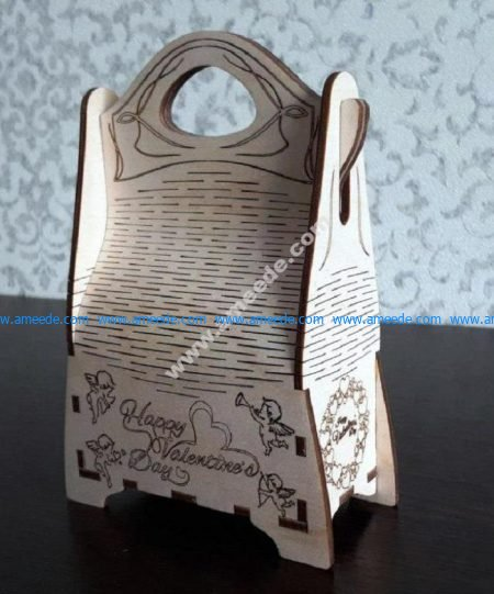 Handbag gift layout vector