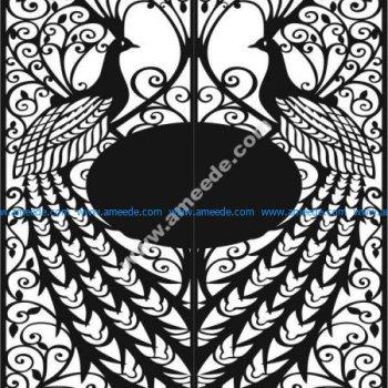 Iron gate peacock
