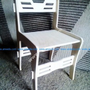 assembled wooden chair