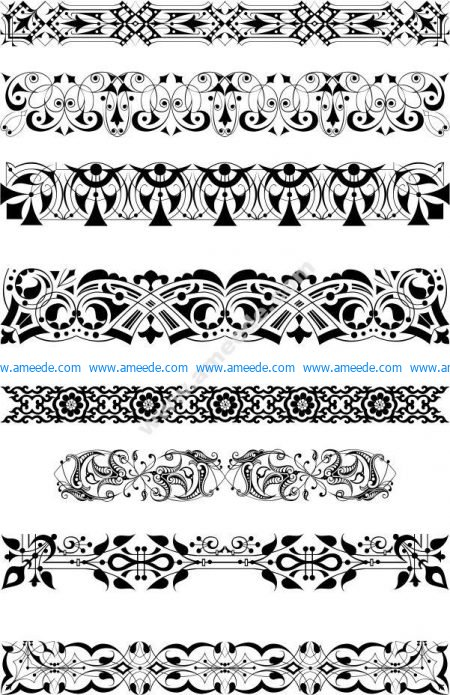 border pattern vector