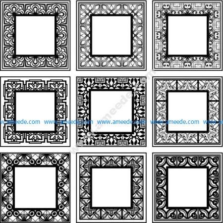 decorative frame square