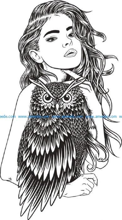 girl with owl