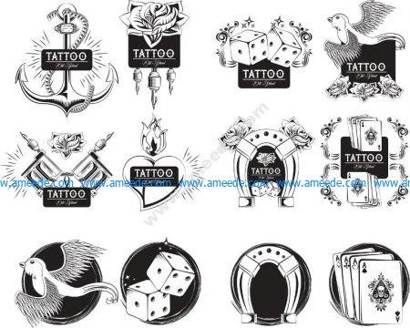 oldscholl tattoo set