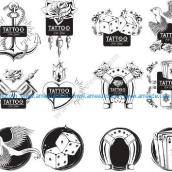 oldscholl tattoo set