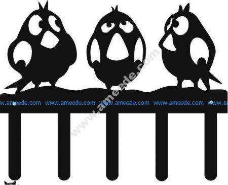 three birds vector