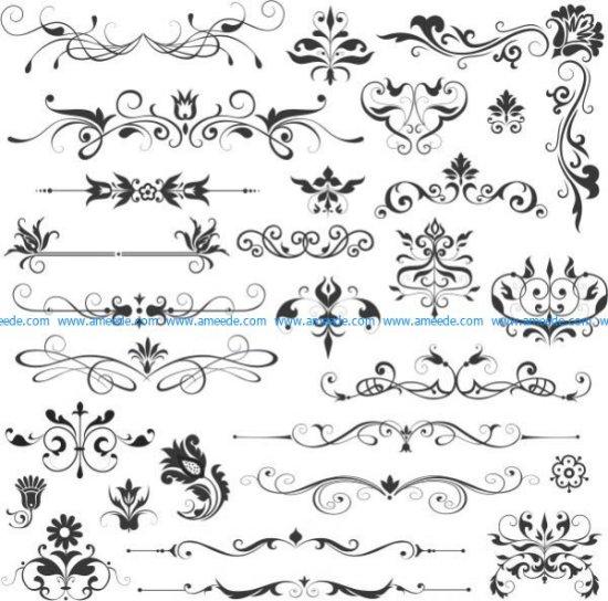 Beautiful vector decorative patterns
