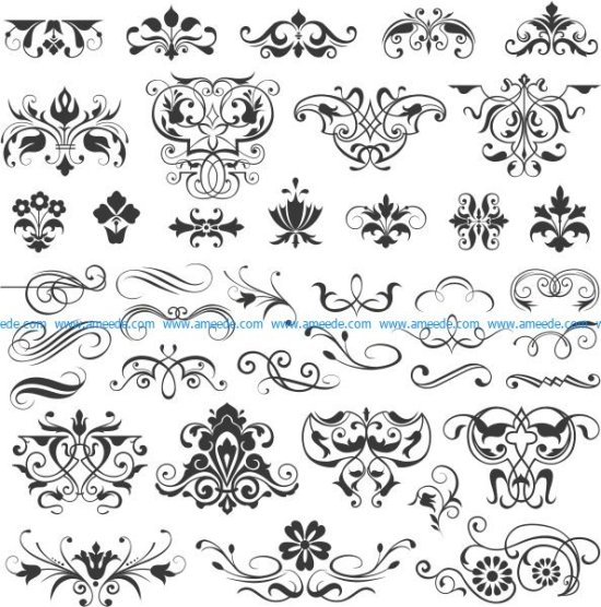 Collection of beautiful decorative motifs