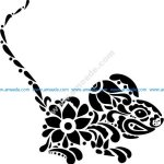 floral mouse vector