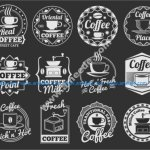 coffee shop icon set