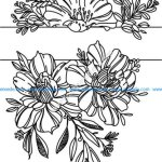 engraving laser flower pattern