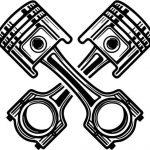 symbol of large capacity cylinder engine
