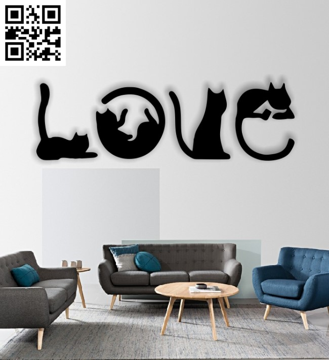 Download Love cat E0012848 file cdr and dxf free vector download ...