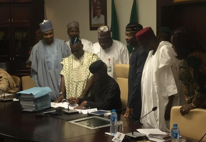 2017 Budget,Osinbajo Made History By Signs it into law