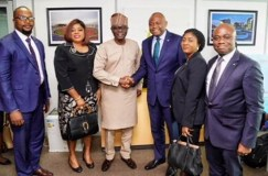Okonkwo on a courtesy visit to the incoming Governor of Lagos State, His Excellency, Babajide Sanwo – Olu.