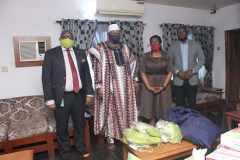 Photo News: NSE joined Red Star Express Plc donate 1000 disposable face masks