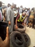 SON to ensure Nigeria not turned into dumping of substandard goods, destroyed containers of Tyres, Cylinders in Lagos
