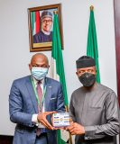 FMDQ Group CEO and Management Pay Courtesy Visit to Vice President Professor Yemi Osinbajo