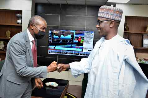Managing Director and Chief Executive Officer of Nigeria Liquefied Natural Gas Limited, Dr. Philip Mshelbila on a courtesy visit to the NNPC GROUPMD