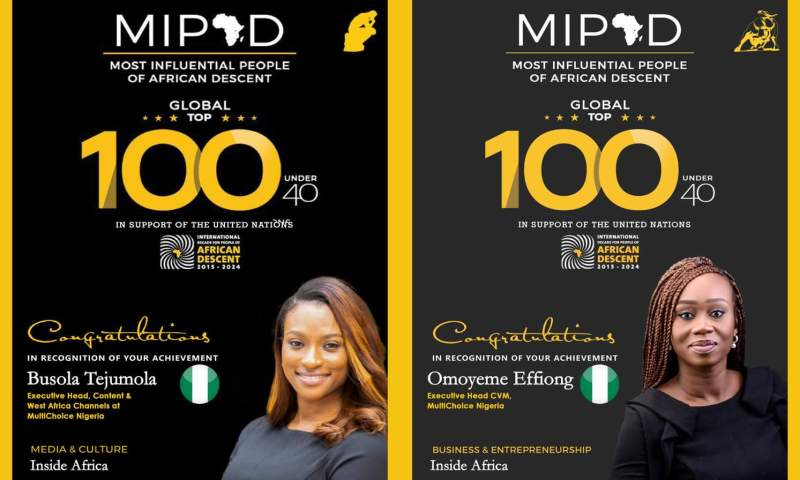 MultiChoice Nigeria honours at the MIPAD Top Global 100 under 40 List