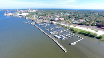 Waterfront views and notice depth toward the Port of Fernandina