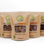 Image of packages of Ginger's Treats Dog Treats.