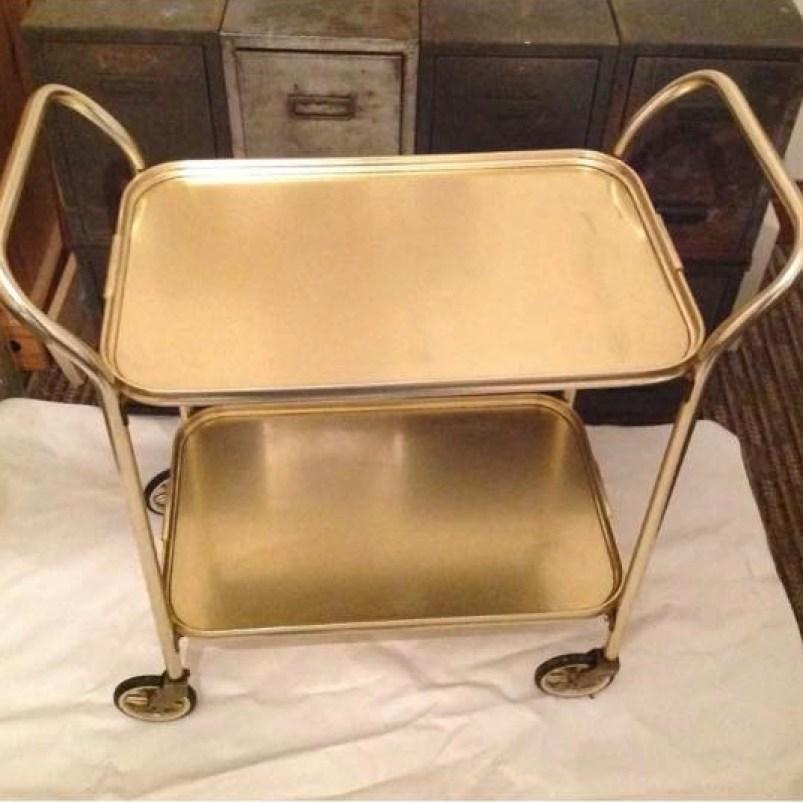 Gold retro hostess gin trolley