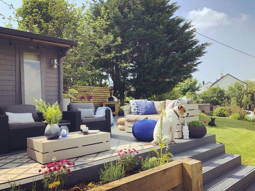 Outdoor living. Outdoor spaces. Decking. Interior designer Cumbria