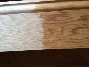 Osmo Amber tinted oil on the oak skirting boards - brings out the grain beautifully