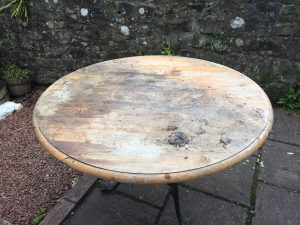 Pine table top salvaged from local tip