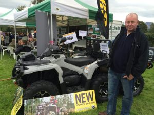 Mr W with his eye on a quad bike