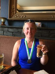 Amelia Wilson after completing the Cockermouth Triathlon 2015