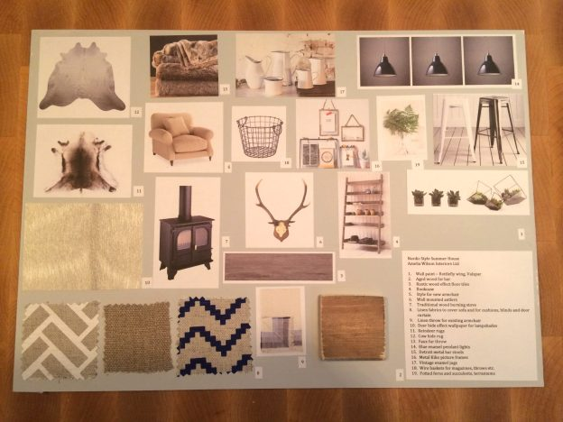Nordic summer house mood board by Amelia Wilson Interiors Ltd