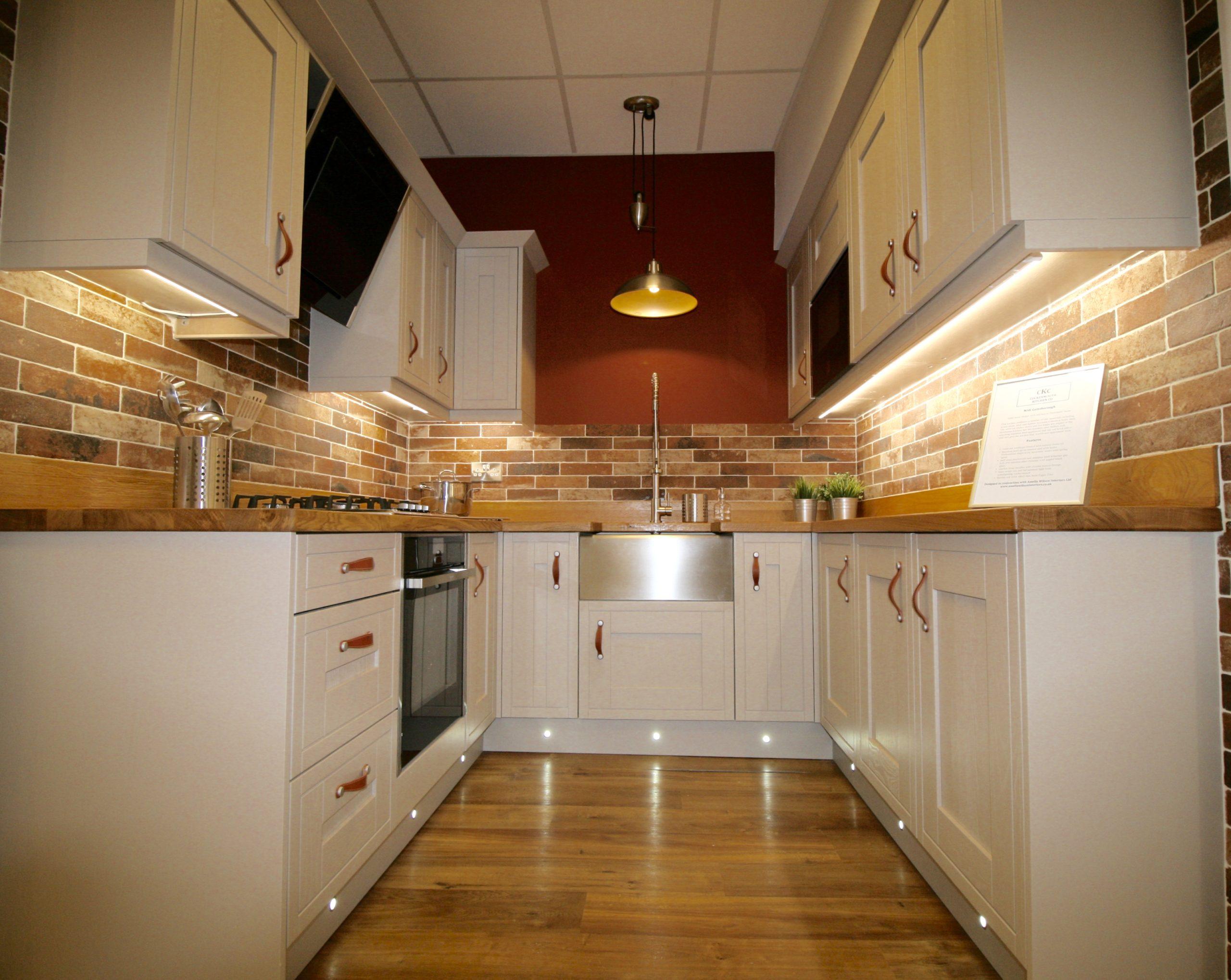 Gainsborough shaker style kitchen in Portobello Stone by PWS