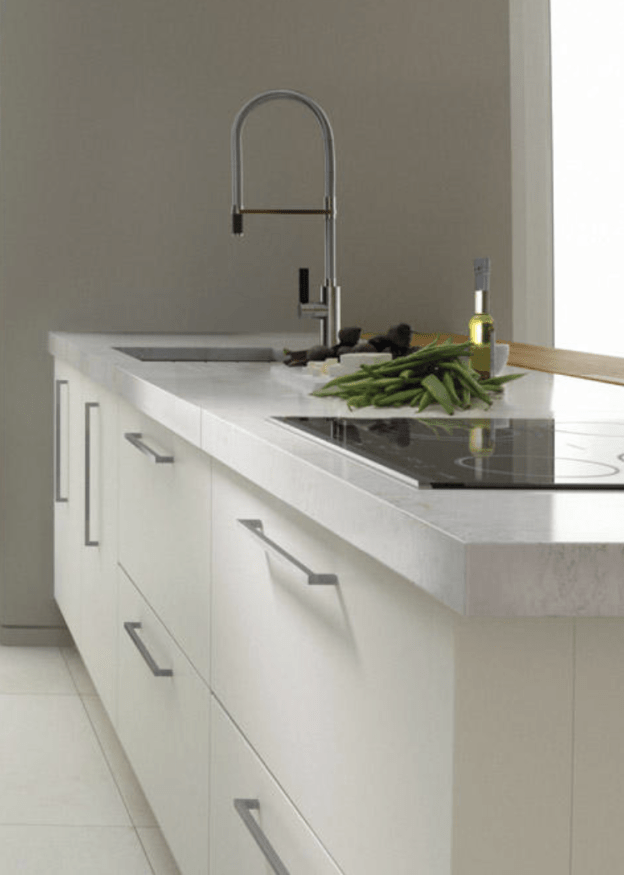 INZO kitchen in Porcelain