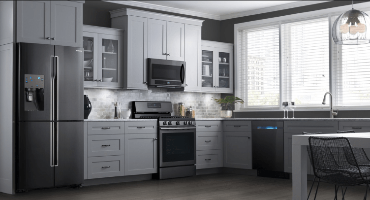 2016 interior design trends - Black Stainless Steel appliance collection from Samsung
