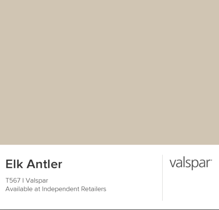 Before and afters. Elk Antler Valspar