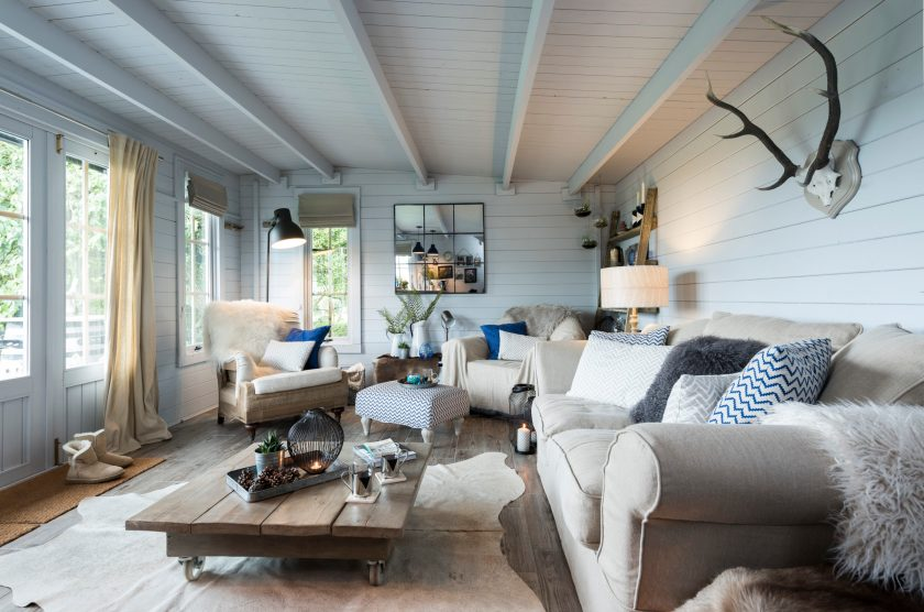 Outdoor living. Summer house. Scandi interiors. Interior designer Cumbria