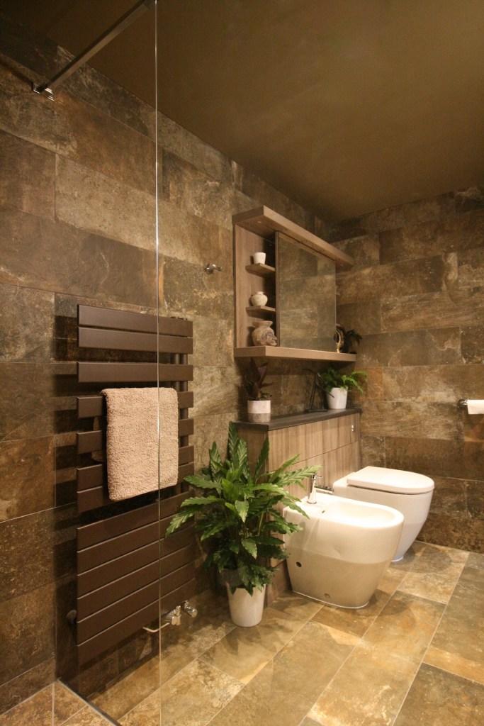Bathroom and heated towel rail