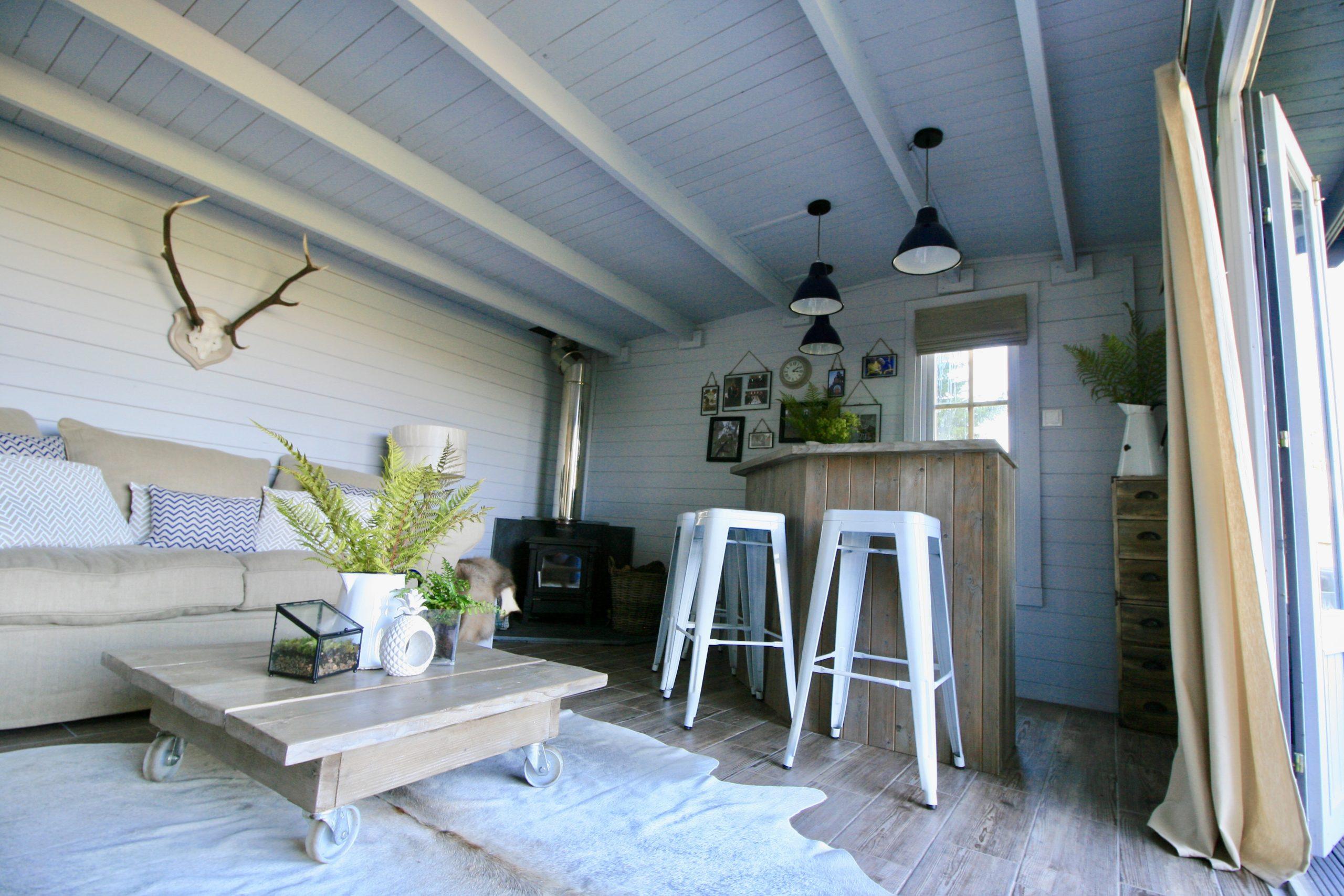 Scandinavian design nordic style summerhouse designed by Amelia Wilson Interiors