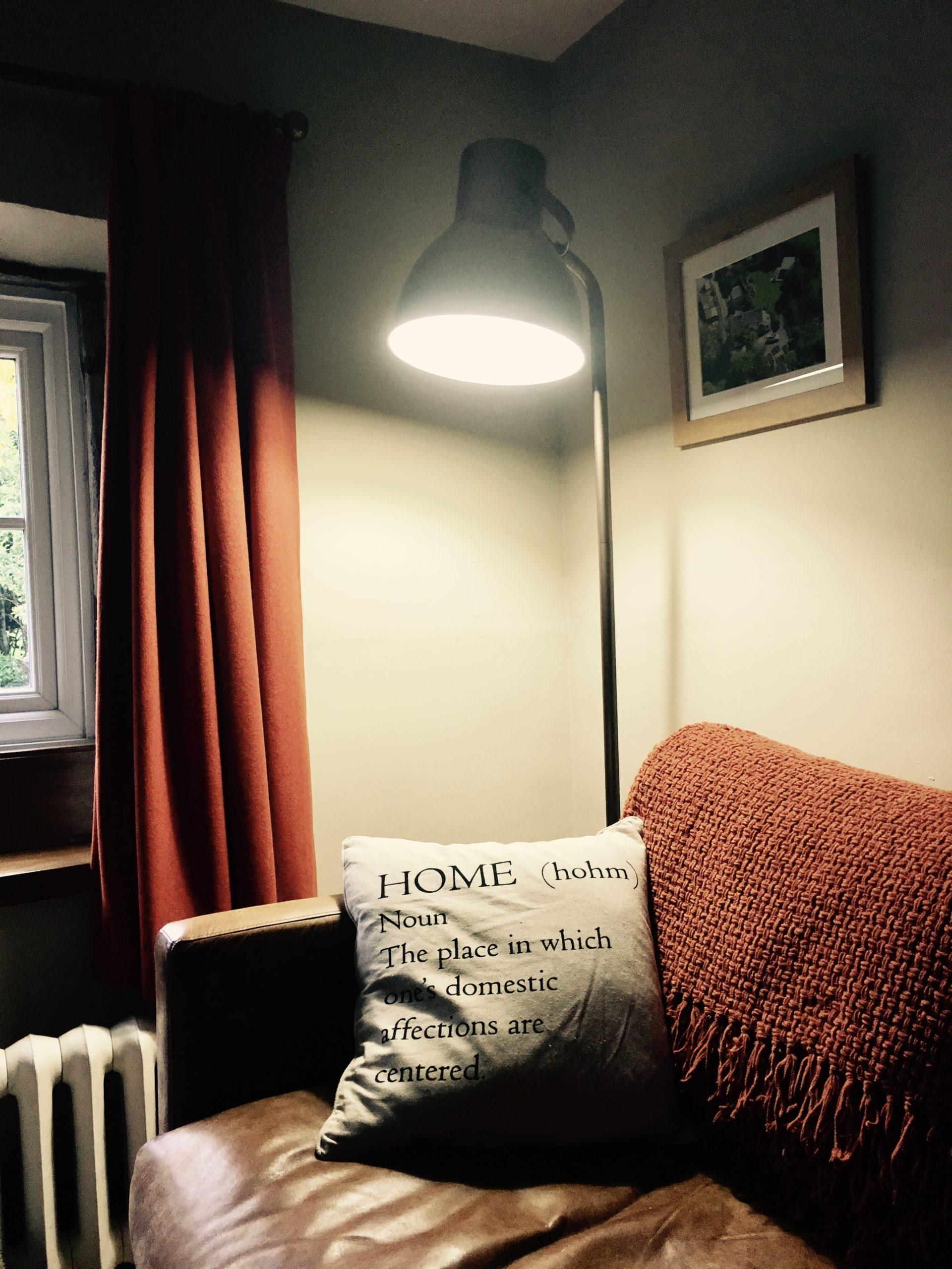 Bronze Hektar floor lamp from IKEA
