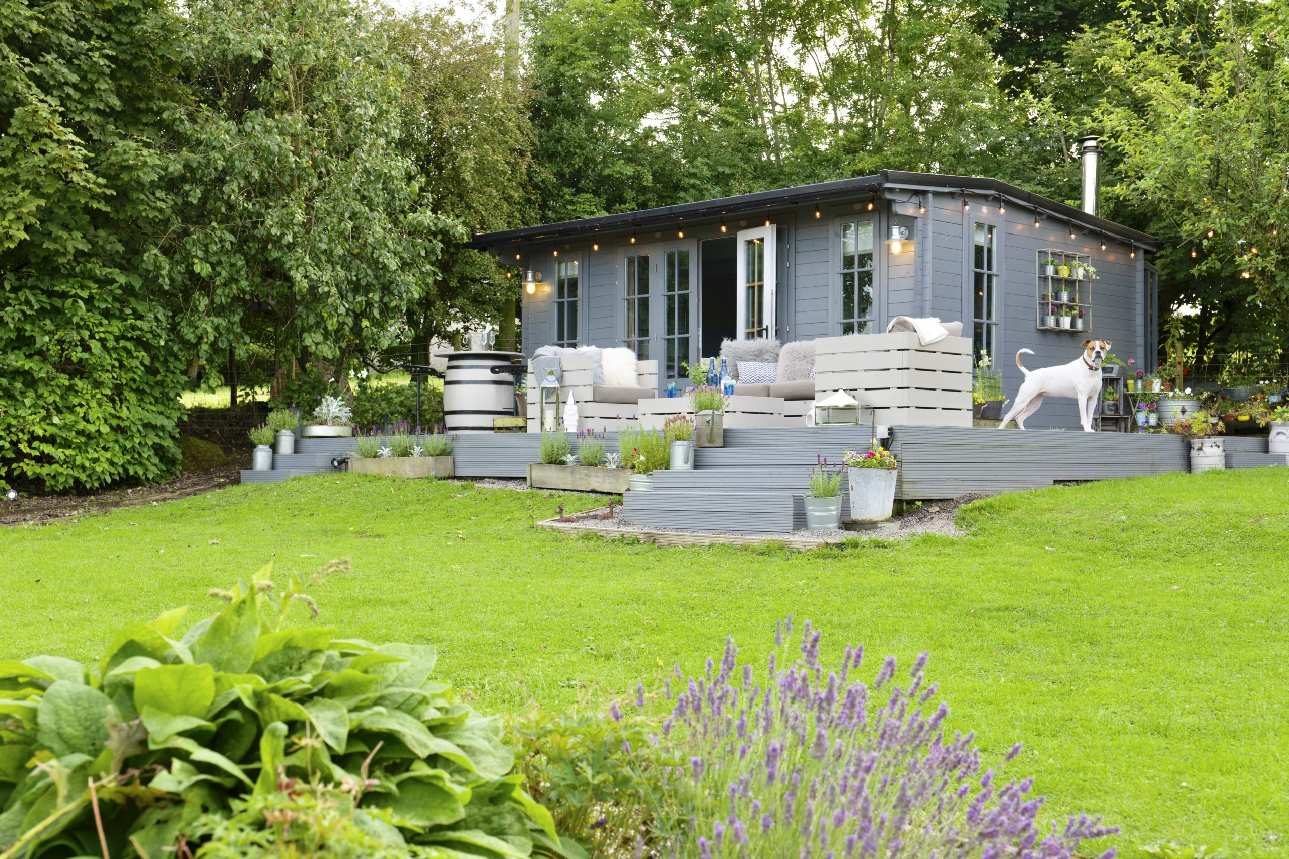 Nordic scandinavian summerhouse and outdoor kitchen designed by Amelia Wilson