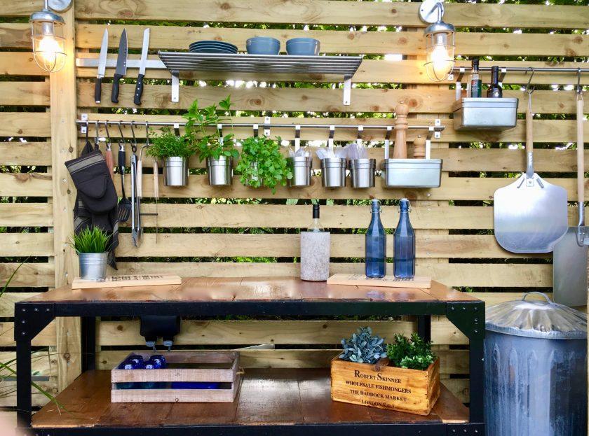 Outdoor living outdoor kitchen Amelia Wilson Interiors Ltd interior designer Cumbria