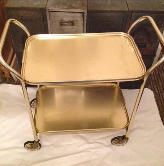 Gold hostess trolley